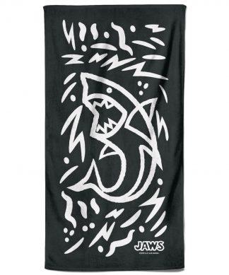 Jaws Black Doodle  Beach Towel chez Casa Décoration