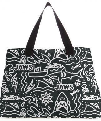 Jaws Black Doodle Tote Bag chez Casa Décoration