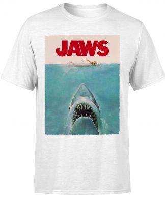 T-Shirt Homme Les Dents de la mer - Affiche Classique - Blanc - XS - Blanc chez Casa Décoration