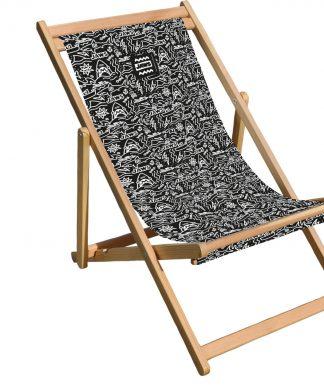 Decorsome Jaws Black Doodle Deck Chair chez Casa Décoration
