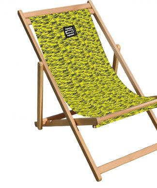 Decorsome Jaws Yellow Doodle Deck Chair chez Casa Décoration