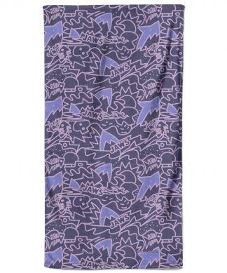 Jaws Purple Doodle Pattern Beach Towel chez Casa Décoration