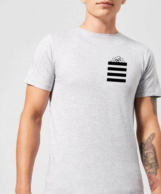 T-Shirt Homme Taz Poche à Rayures Looney Tunes - Gris - XS - Gris chez Casa Décoration