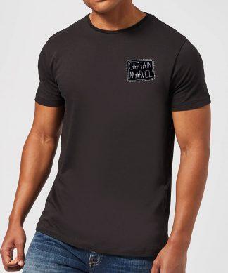Captain Marvel Name Badge Men's T-Shirt - Black - XS - Noir chez Casa Décoration