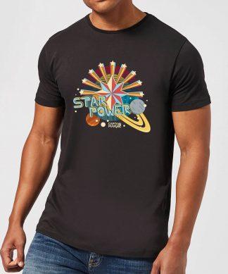 Captain Marvel Star Power Men's T-Shirt - Black - XS - Noir chez Casa Décoration
