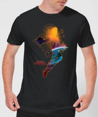 Captain Marvel Nebula Flight Men's T-Shirt - Black - XS chez Casa Décoration