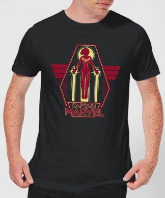 Captain Marvel Flying Warrior Men's T-Shirt - Black - XS chez Casa Décoration