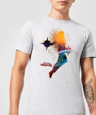 Captain Marvel Nebula Flight Men's T-Shirt - Grey - XS - Gris chez Casa Décoration