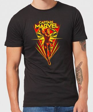 Captain Marvel Freefall Men's T-Shirt - Black - XS - Noir chez Casa Décoration