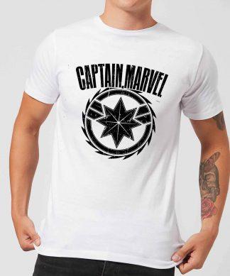 Captain Marvel Logo Men's T-Shirt - White - XS - Blanc chez Casa Décoration