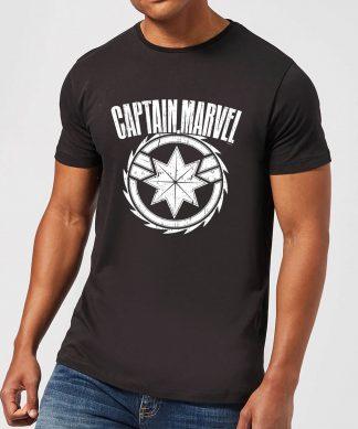 Captain Marvel Logo Men's T-Shirt - Black - XS - Noir chez Casa Décoration