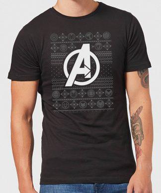 Pull de Noël Homme Marvel Logo Avengers - Noir - XS chez Casa Décoration