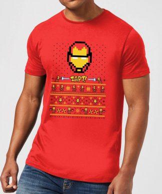 Pull de Noël Homme Marvel Avengers Iron Man Pixel Art - Rouge - XS - Rouge chez Casa Décoration