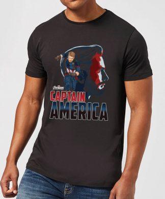 T-Shirt Homme Captain America Avengers - Noir - XS chez Casa Décoration
