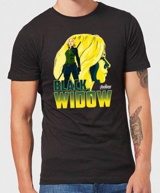 T-Shirt Homme Black Widow Avengers - Noir - XS chez Casa Décoration
