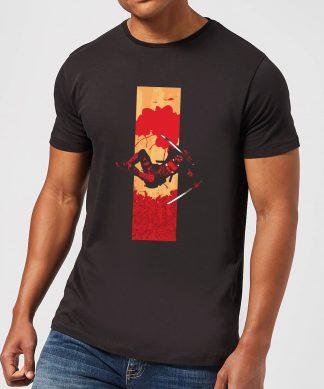 T-Shirt Homme Deadpool Bande Ensanglantée Marvel - Noir - XS chez Casa Décoration