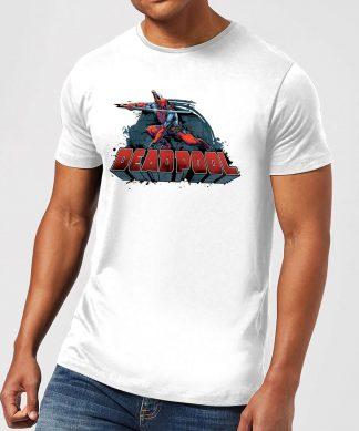 T-Shirt Homme Logo Deadpool et Épée Marvel - Blanc - XS chez Casa Décoration