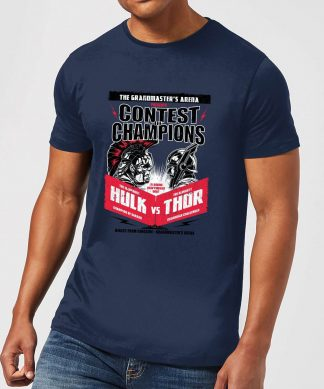 T-Shirt Homme Marvel - Thor Ragnarok - Affiche Champions - Bleu Marine - XS - Navy chez Casa Décoration