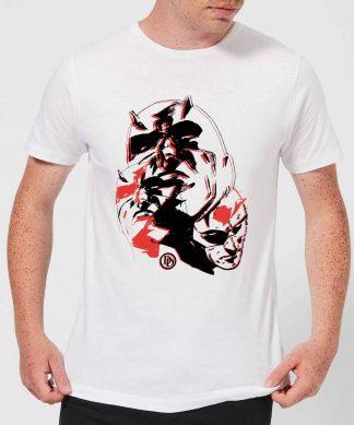 T-Shirt Homme Daredevil Plusieurs Visages - Marvel Knights - Blanc - XS - Blanc chez Casa Décoration