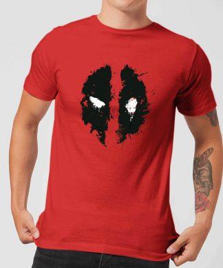 T-Shirt Homme Deadpool (Marvel) Splat Face - Rouge - XS chez Casa Décoration