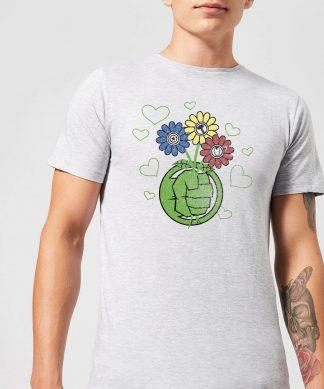T-Shirt Homme Avengers Hulk Fleurs (Marvel) - Gris - XS - Gris chez Casa Décoration