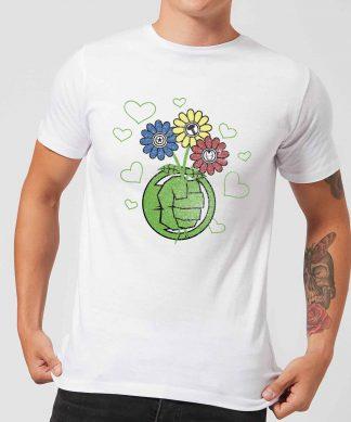 T-Shirt Homme Avengers Hulk Fleurs (Marvel) - Blanc - XS - Blanc chez Casa Décoration