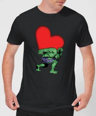 T-Shirt Homme Avengers Hulk Cœur (Marvel) - Noir - XS chez Casa Décoration
