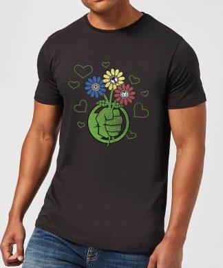 T-Shirt Homme Avengers Hulk Fleurs (Marvel) - Noir - XS - Noir chez Casa Décoration