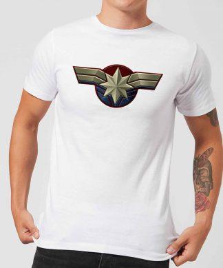 Captain Marvel Chest Emblem Men's T-Shirt - White - XS chez Casa Décoration
