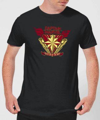 Captain Marvel Protector Of The Skies Men's T-Shirt - Black - XS - Noir chez Casa Décoration