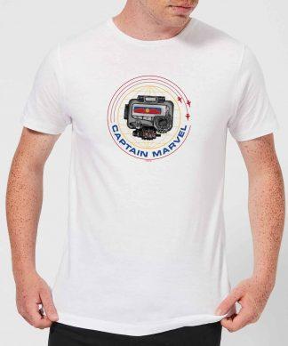 Captain Marvel Pager Men's T-Shirt - White - XS - Blanc chez Casa Décoration