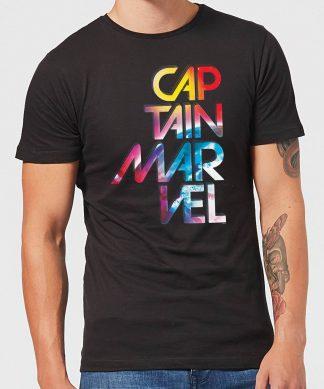 Captain Marvel Galactic Text Men's T-Shirt - Black - XS chez Casa Décoration
