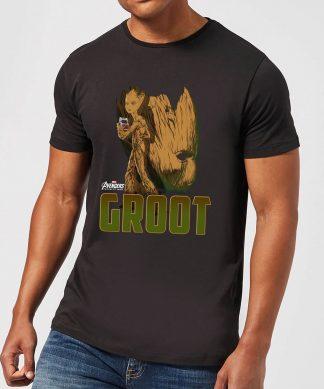 T-Shirt Homme Groot Avengers - Noir - XS chez Casa Décoration