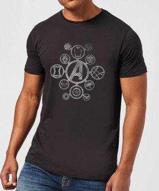 T-Shirt Homme Logo Effet Métallisé Avengers - Noir - XS - Noir chez Casa Décoration