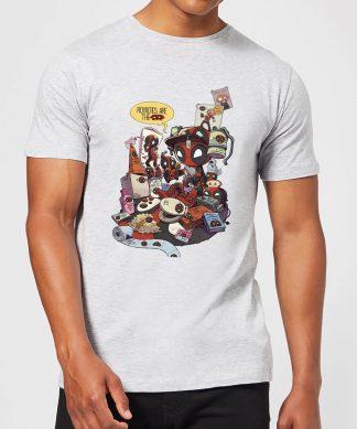 T-Shirt Homme Deadpool Veut des Royalties Marvel - Gris - XS - Gris chez Casa Décoration