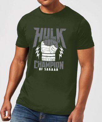 T-Shirt Homme Marvel - Thor Ragnarok - Hulk Champion - Vert Foncé - XS - Forest Green chez Casa Décoration