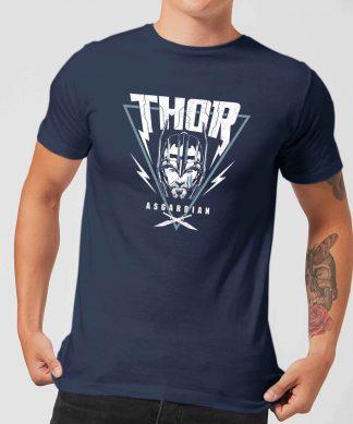 T-Shirt Homme Marvel - Thor Ragnarok - Triangle Asgardien - Bleu Marine - XS - Navy chez Casa Décoration