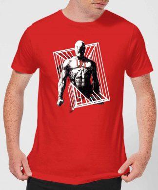 T-Shirt Homme Daredevil Cage - Marvel Knights - Rouge - XS - Rouge chez Casa Décoration