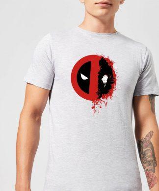 T-Shirt Homme Deadpool (Marvel) Split Splat Logo - Gris - XS - Gris chez Casa Décoration
