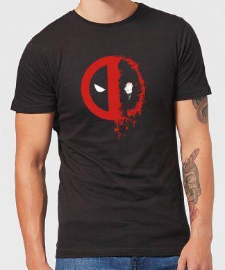 T-Shirt Homme Deadpool (Marvel) Split Splat Logo - Noir - XS chez Casa Décoration