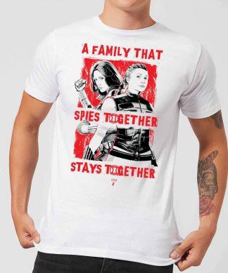 Black Widow Family That Spies Together Men's T-Shirt - White - XS - Blanc chez Casa Décoration