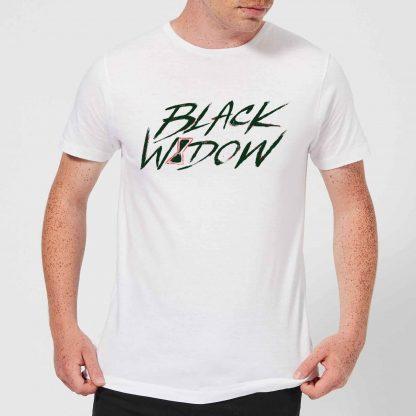 Black Widow Handwriting Men's T-Shirt - White - XS - Blanc chez Casa Décoration