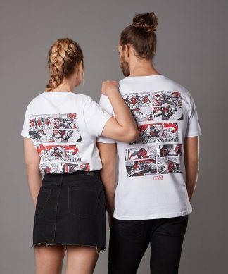 T-shirt Marvel Assemble - Blanc - Unisexe - XS - Blanc chez Casa Décoration