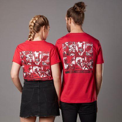 T-shirt Marvel Comics Group - Rouge - Unisexe - XS - Rouge chez Casa Décoration