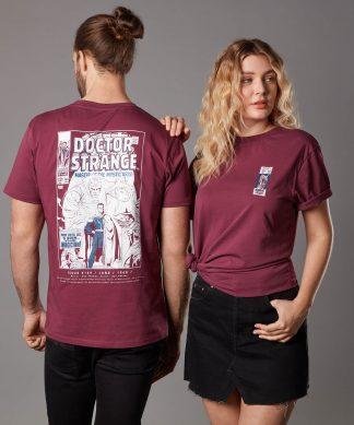 T-shirt Marvel Doctor Strange Issue 169 - Bordeaux - Unisexe - XS - Burgundy chez Casa Décoration