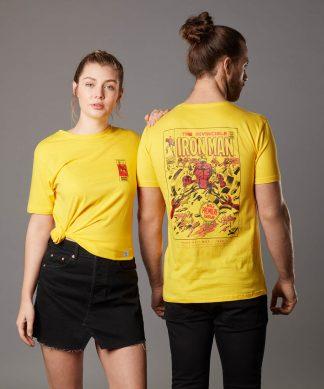 T-shirt Marvel Iron Man Issue 1 - Jaune - Unisexe - XS - Citron chez Casa Décoration