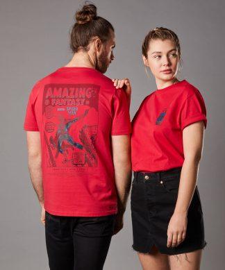 T-shirt Marvel Amazing Fantasy Issue 15 - Rouge - Unisexe - XS chez Casa Décoration