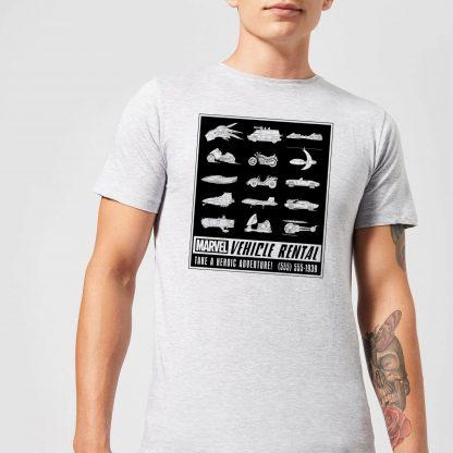 Marvel Vehicle Rentals Mono Men's T-Shirt - Grey - XS - Gris chez Casa Décoration