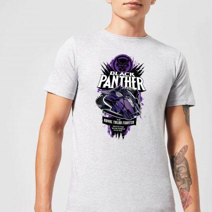 Marvel Black Panther The Royal Talon Fighter Badge Men's T-Shirt - Grey - XS chez Casa Décoration