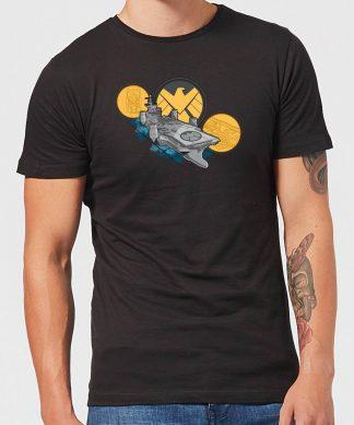 Marvel S.H.I.E.L.D. Helicarrier Men's T-Shirt - Black - XS - Noir chez Casa Décoration